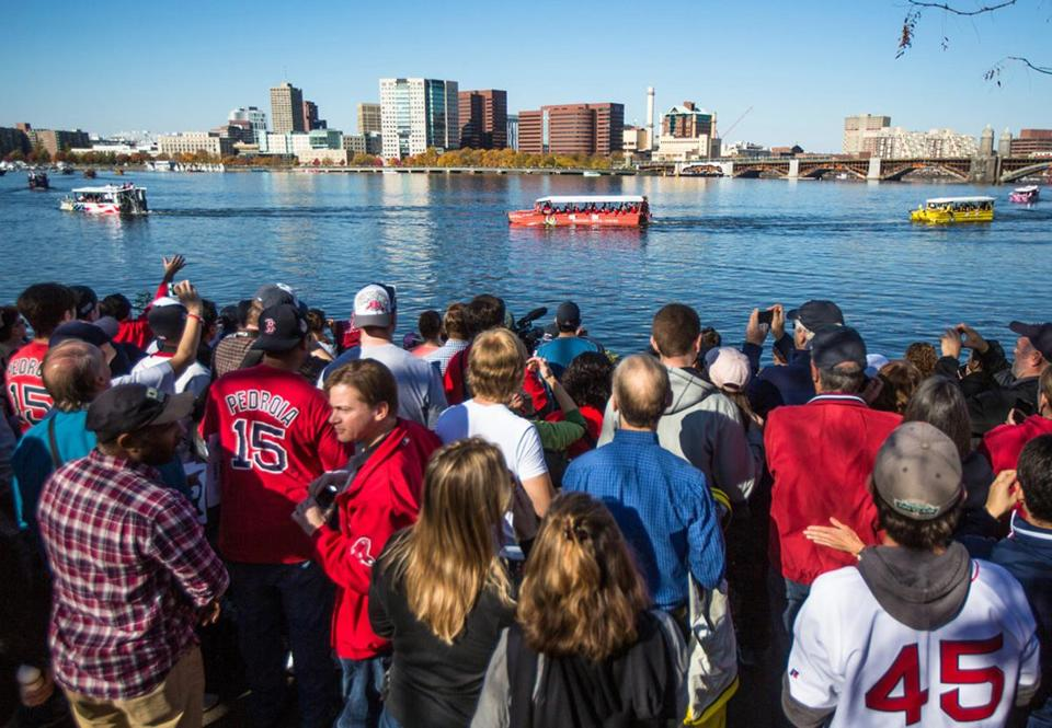 The young sports fans of Boston have seen nine Duck Boat parades already.
